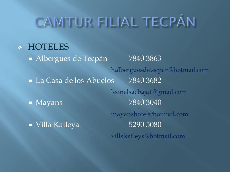 CAMTUR FILIAL TECPÁN HOTELES Albergues de Tecpán 7840 3863