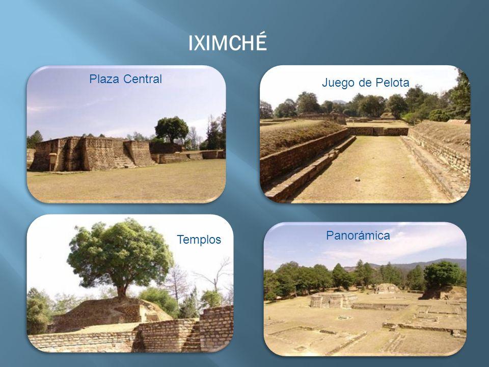 IXIMCHÉ Plaza Central Juego de Pelota Panorámica Templos