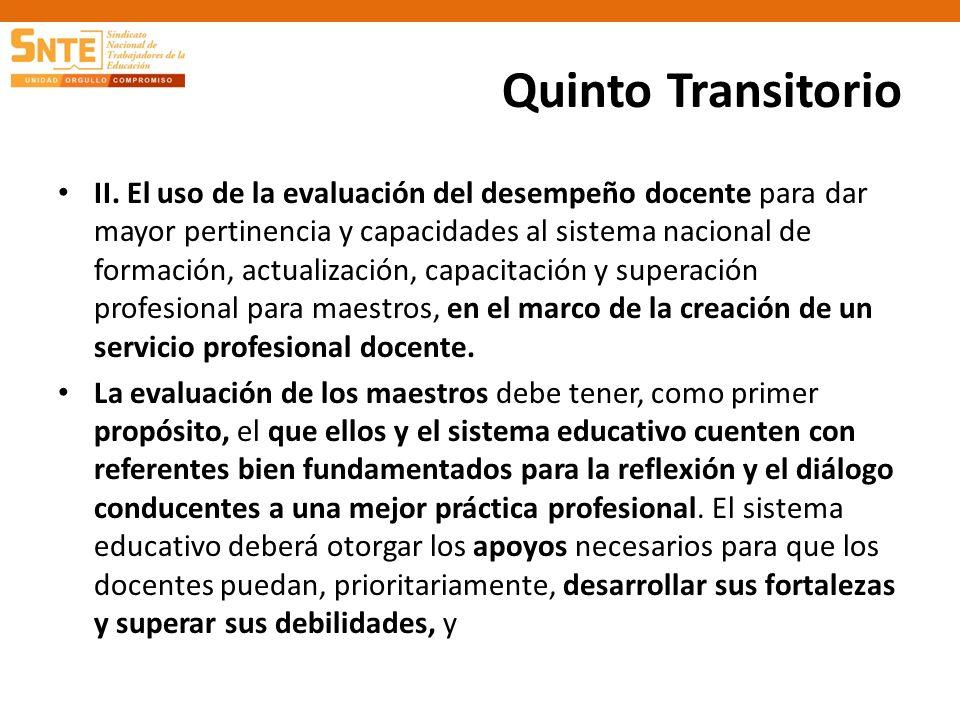 Quinto Transitorio