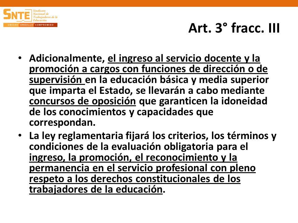 Art. 3° fracc. III