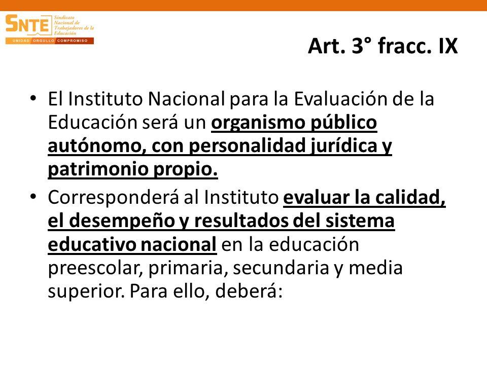 Art. 3° fracc. IX