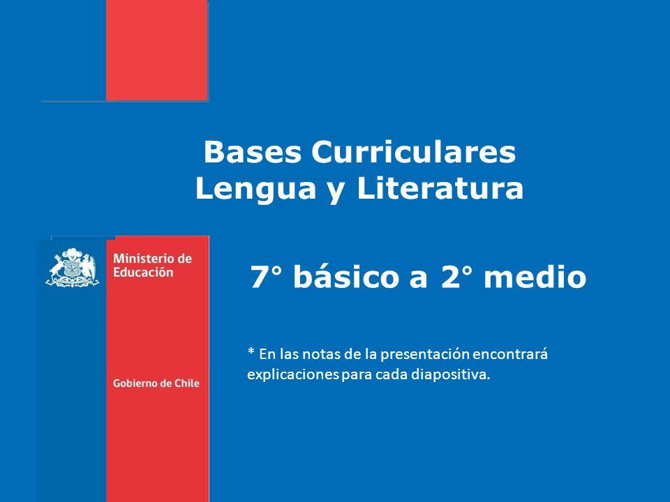 Bases Curriculares Lengua y Literatura