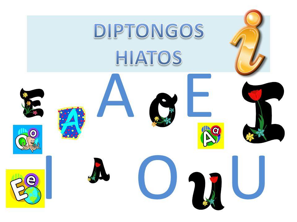DIPTONGOS HIATOS A E I O U