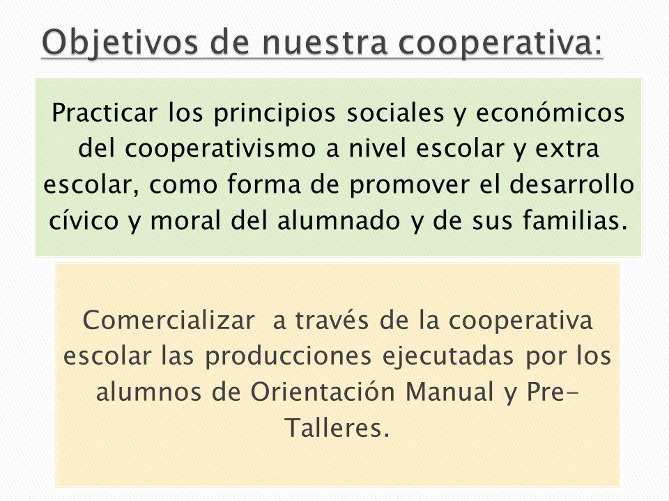Objetivos de nuestra cooperativa: