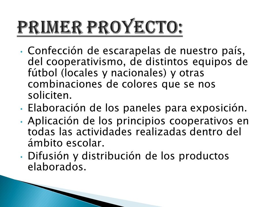 primer proyecto: