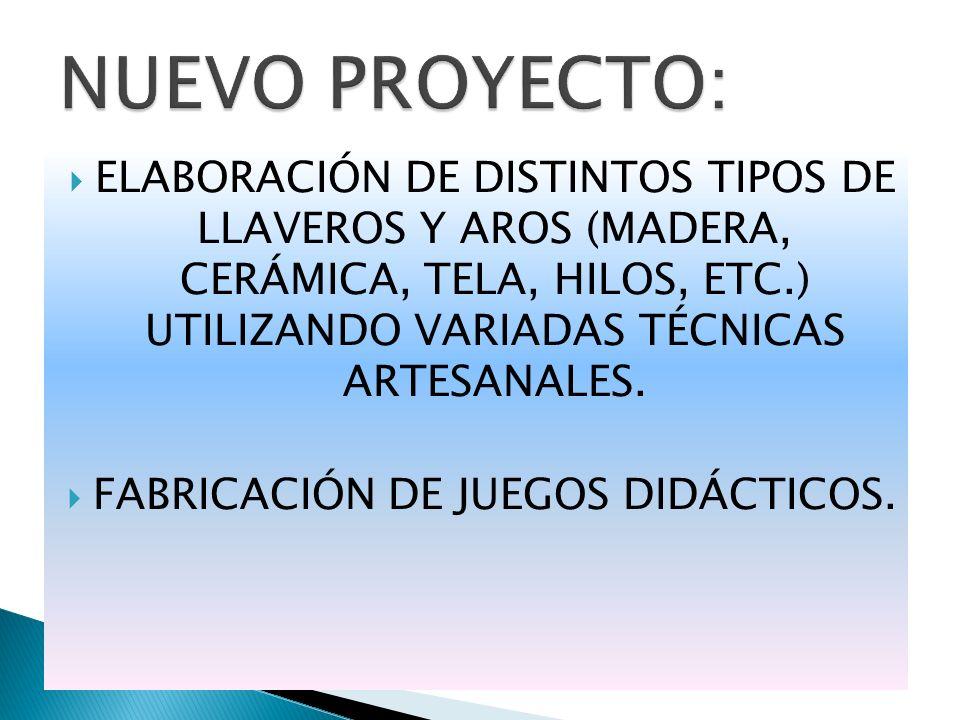 FABRICACIÓN DE JUEGOS DIDÁCTICOS.