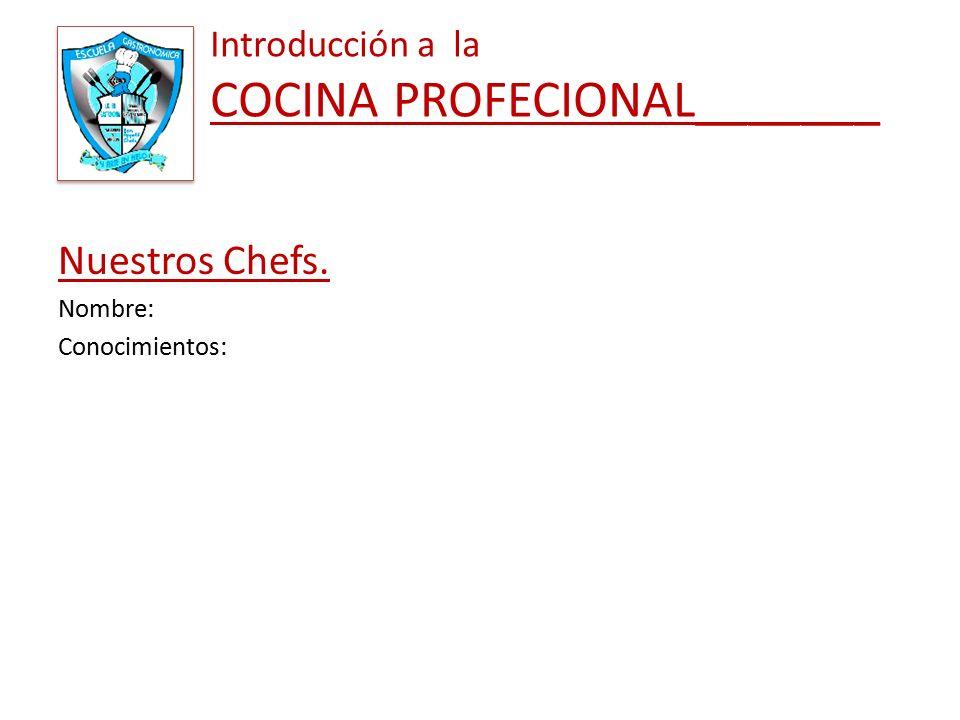 Introducci n a la cocina profesional ppt descargar for Introduccion a la gastronomia pdf