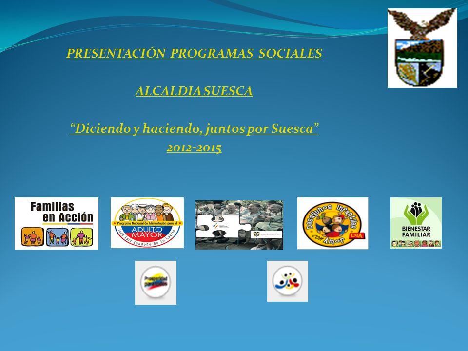 PRESENTACIÓN PROGRAMAS SOCIALES ALCALDIA SUESCA