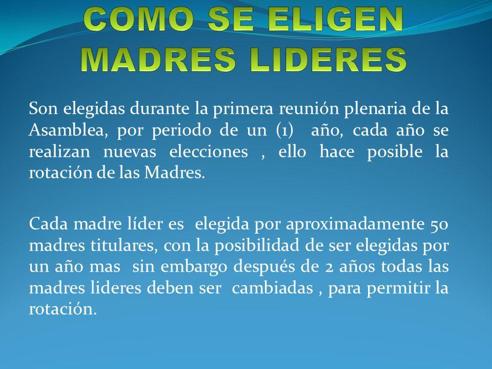 COMO SE ELIGEN MADRES LIDERES