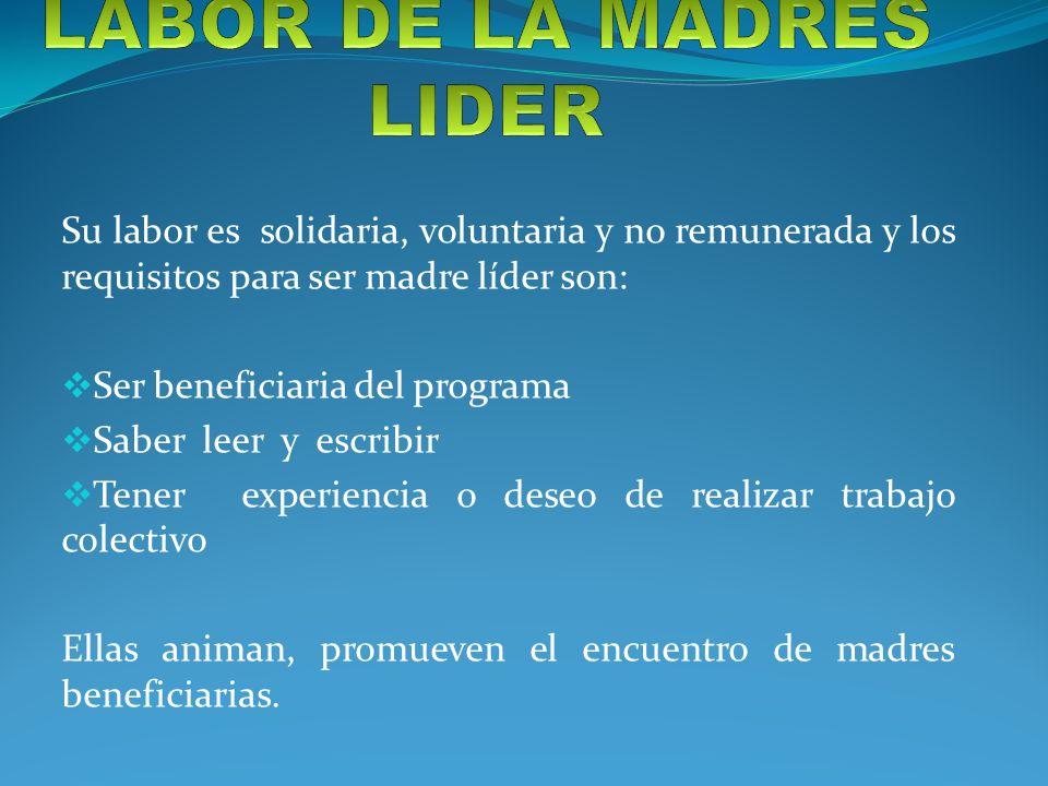 LABOR DE LA MADRES LIDER