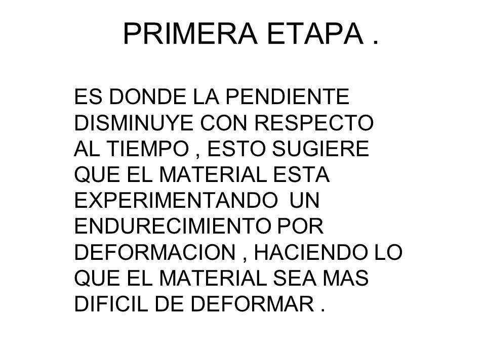 PRIMERA ETAPA .