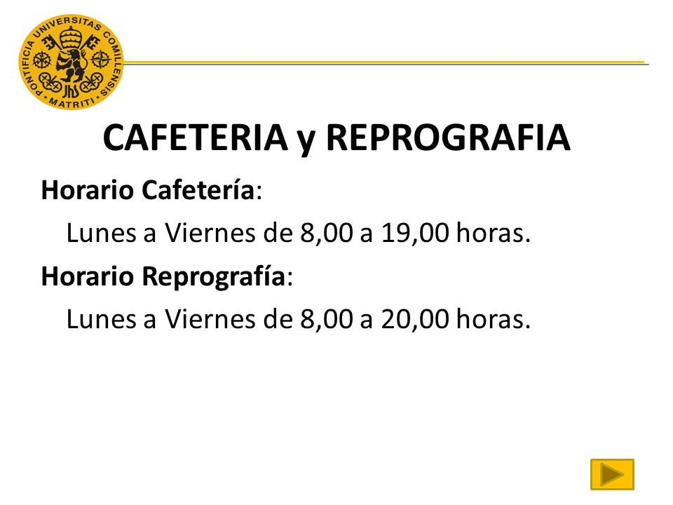 CAFETERIA y REPROGRAFIA