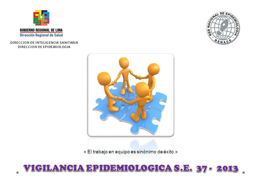 VIGILANCIA EPIDEMIOLOGICA S.E. 37 - 2013