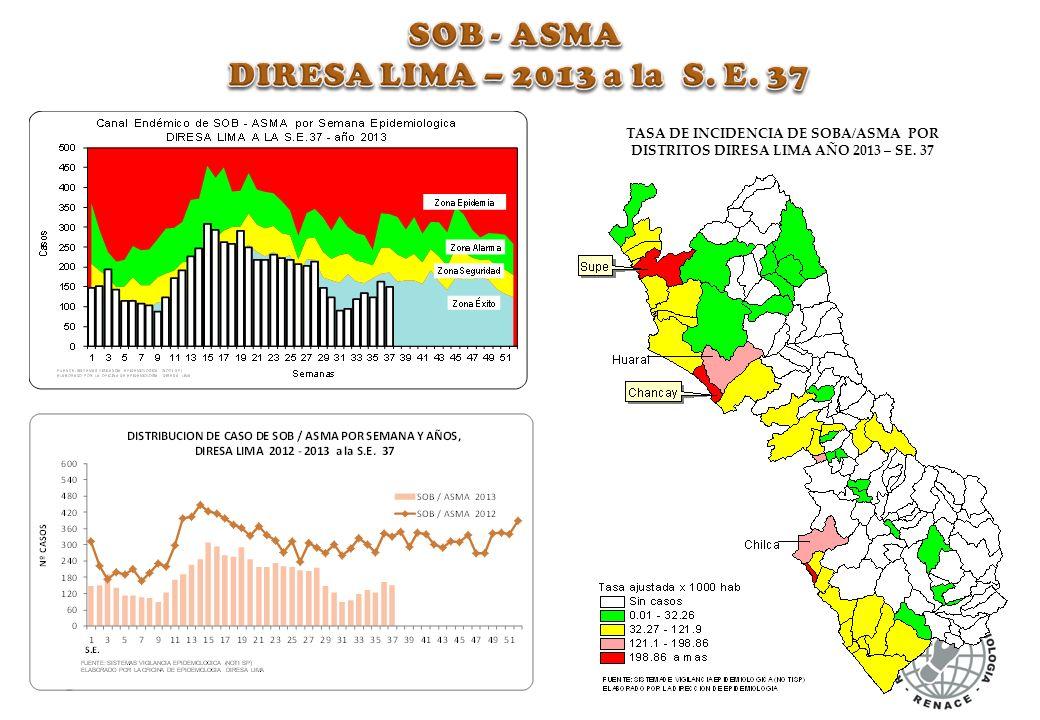SOB - ASMA DIRESA LIMA – 2013 a la S. E. 37