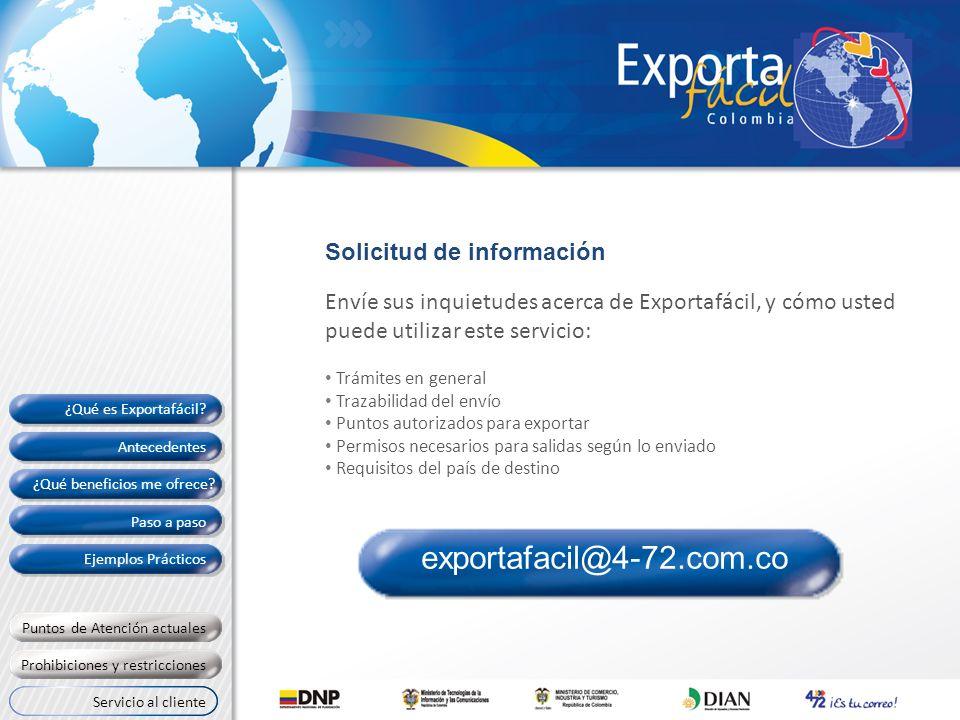 exportafacil@4-72.com.co Solicitud de información