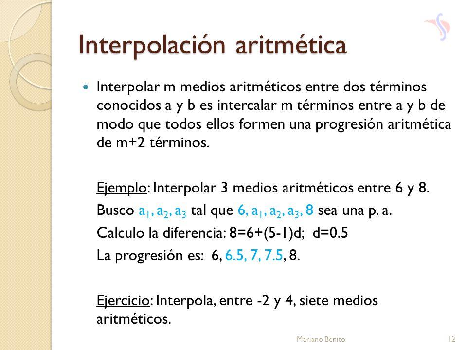 Interpolación aritmética