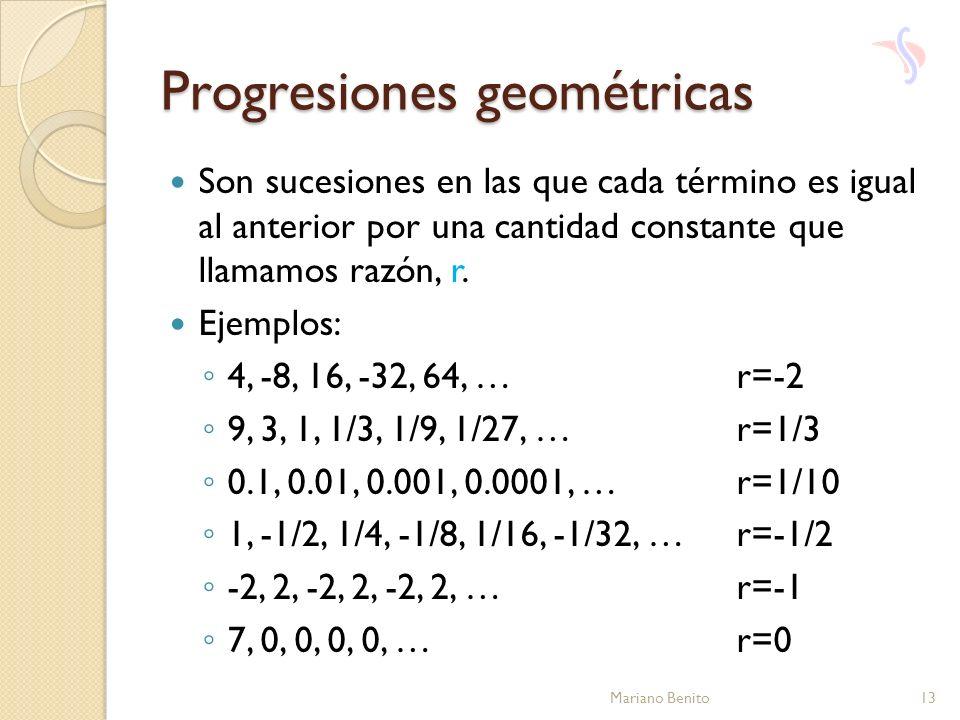 Progresiones geométricas