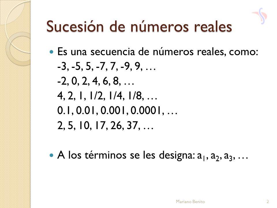 Sucesión de números reales