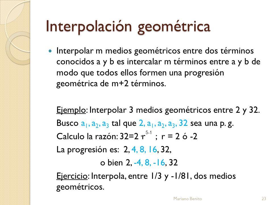 Interpolación geométrica
