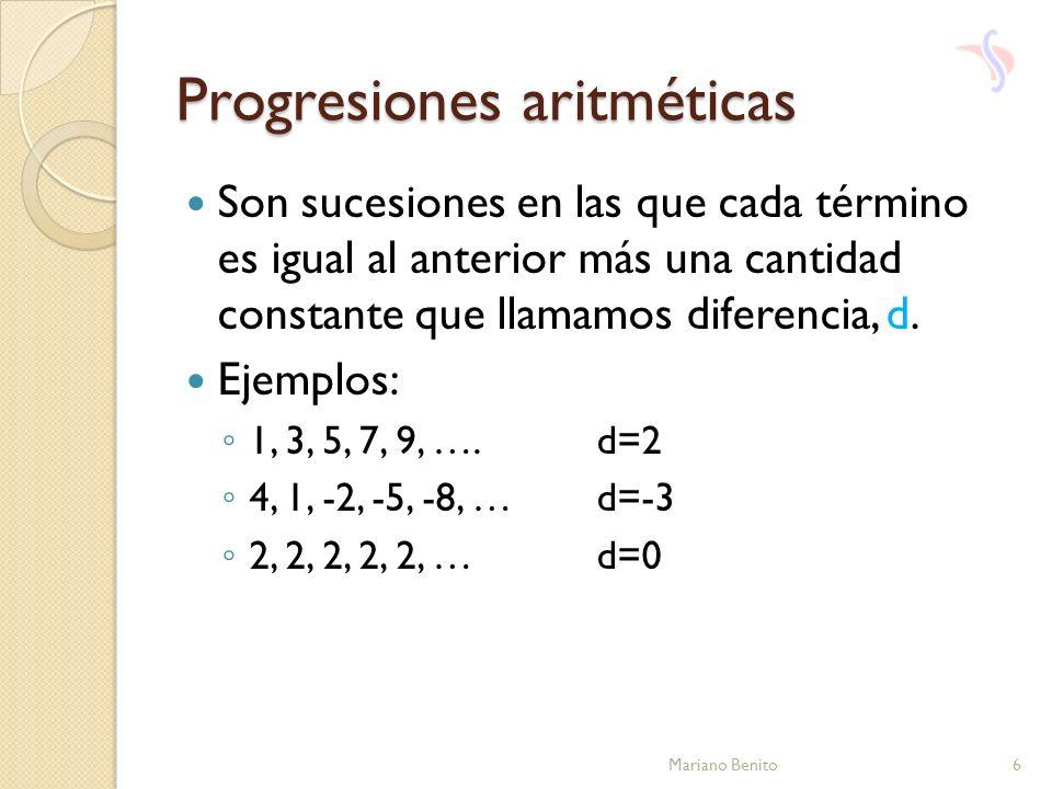 Progresiones aritméticas