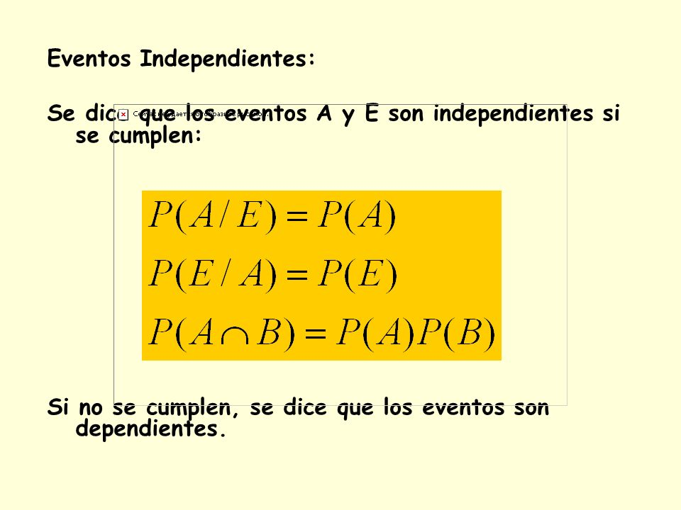 Eventos Independientes: