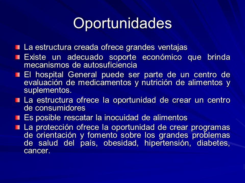 Oportunidades La estructura creada ofrece grandes ventajas