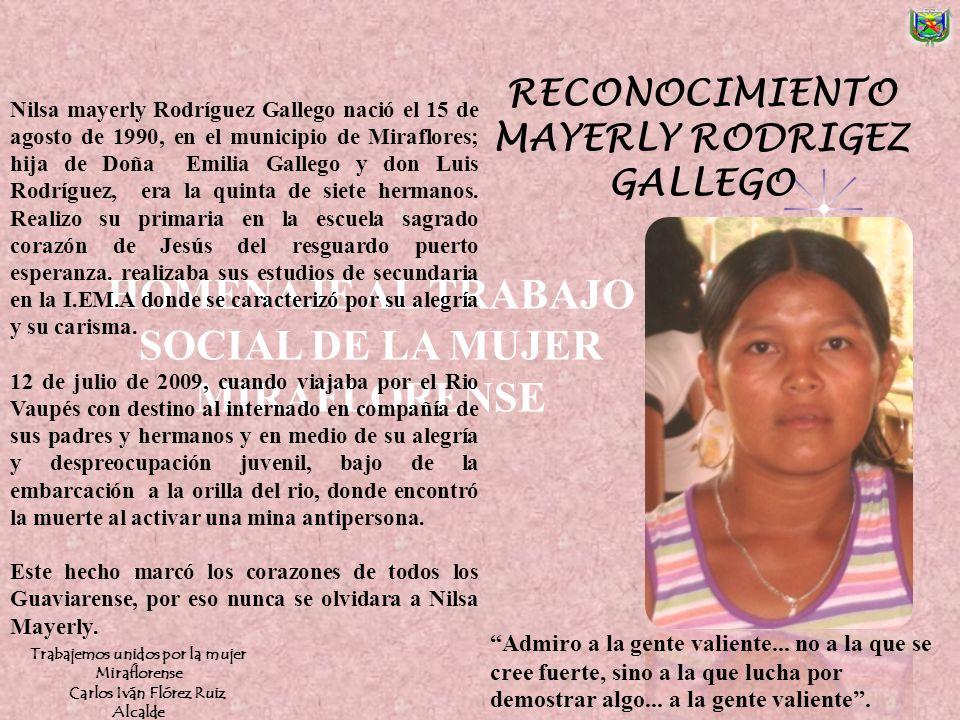 HOMENAJE AL TRABAJO SOCIAL DE LA MUJER MIRAFLORENSE
