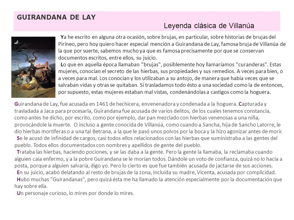 Leyenda clásica de Villanúa