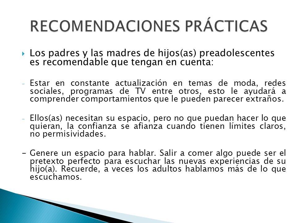 RECOMENDACIONES PRÁCTICAS