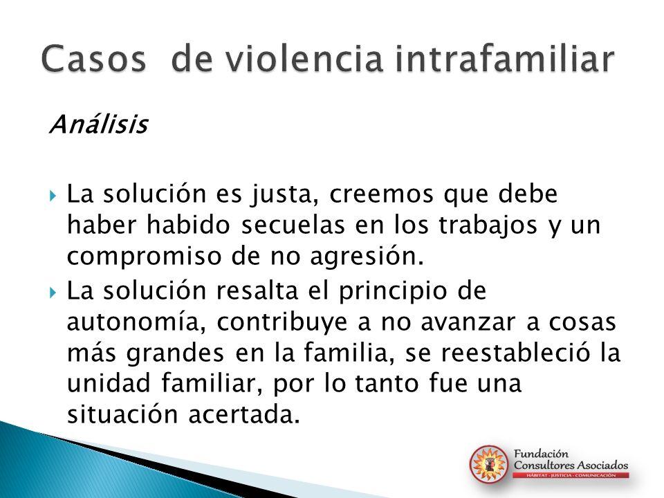 Casos de violencia intrafamiliar