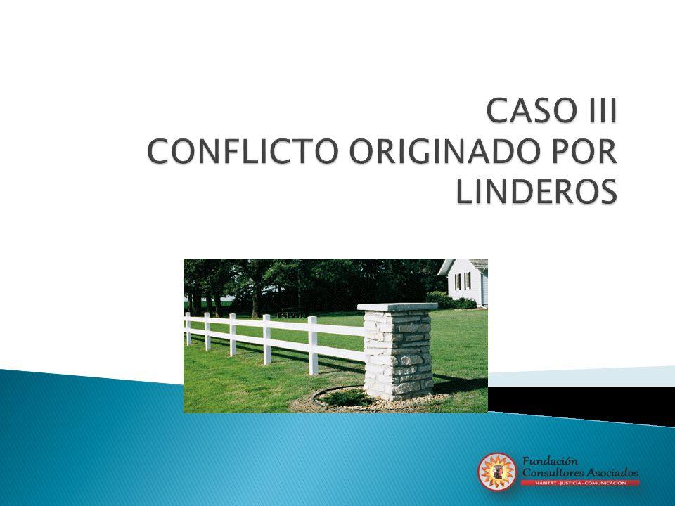 CASO III CONFLICTO ORIGINADO POR LINDEROS