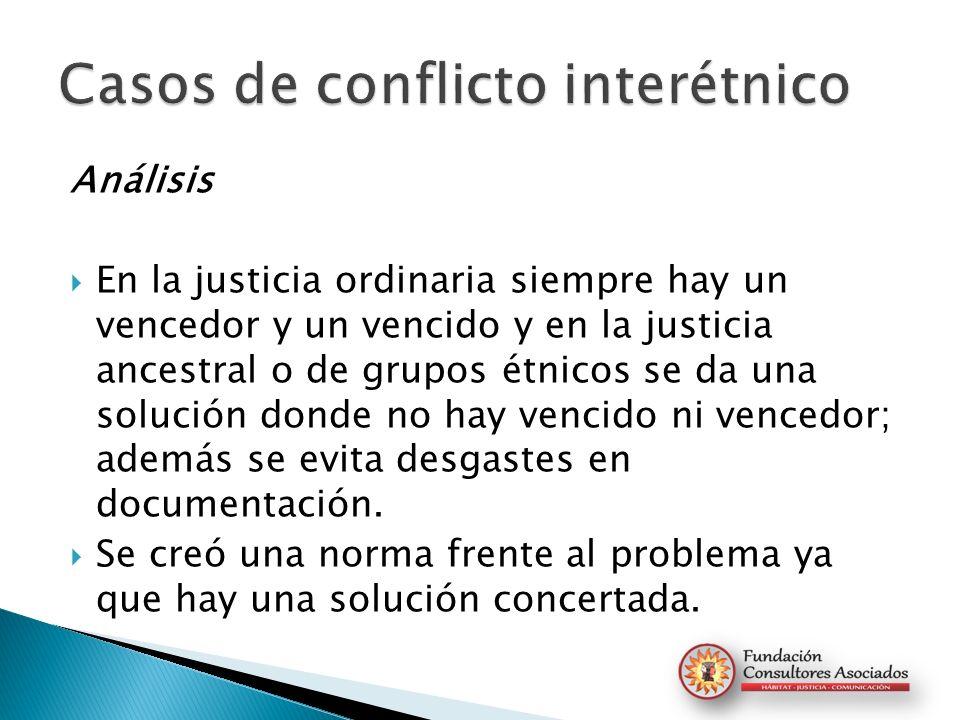 Casos de conflicto interétnico
