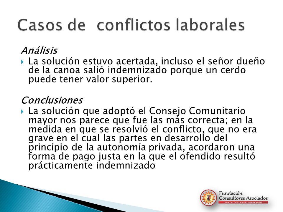 Casos de conflictos laborales