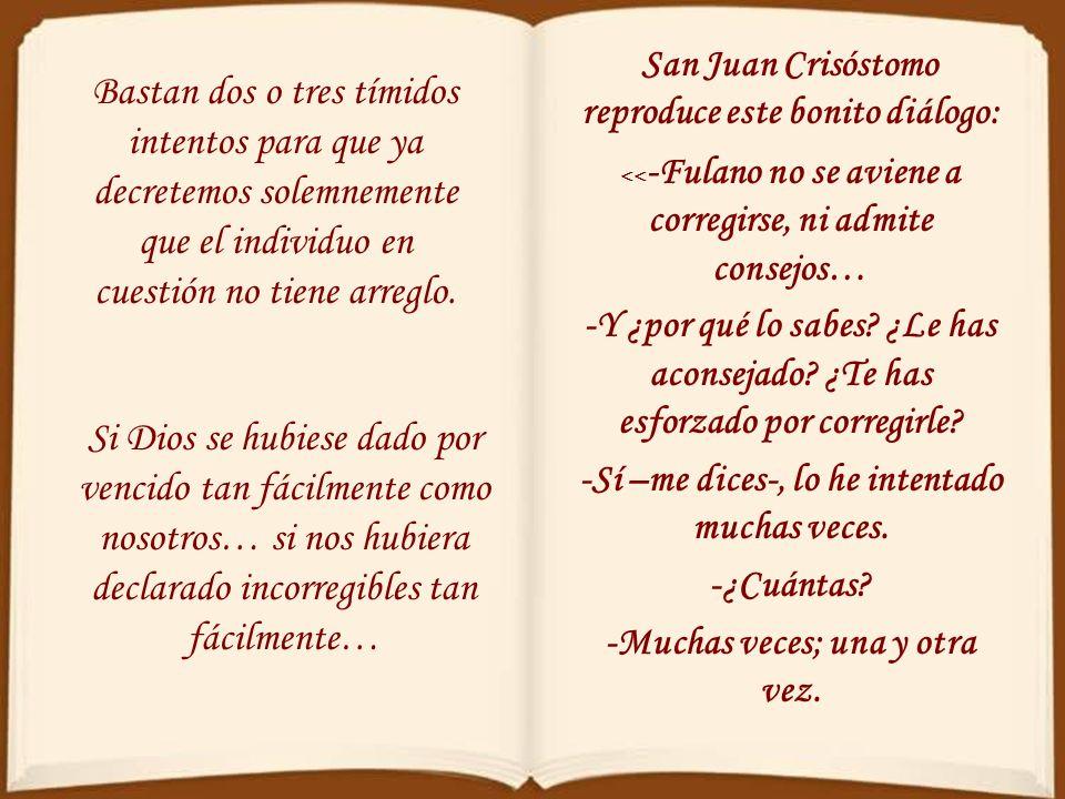 San Juan Crisóstomo reproduce este bonito diálogo: