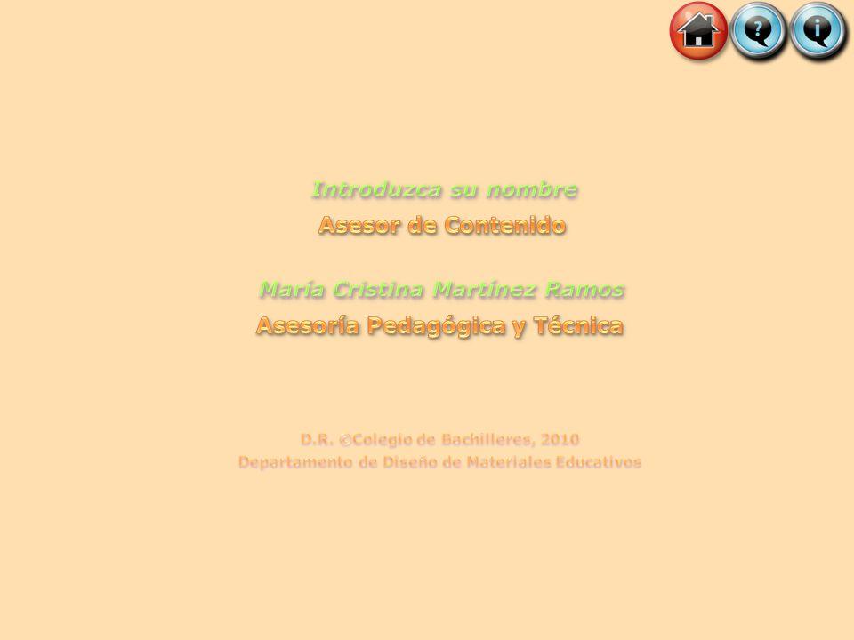 María Cristina Martínez Ramos Asesoría Pedagógica y Técnica