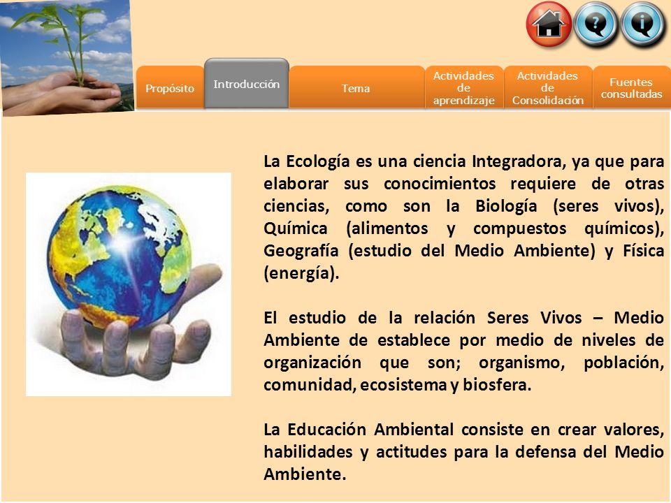 Introducción Propósito. Tema. Actividades de aprendizaje. Actividades de Consolidación. Fuentes.