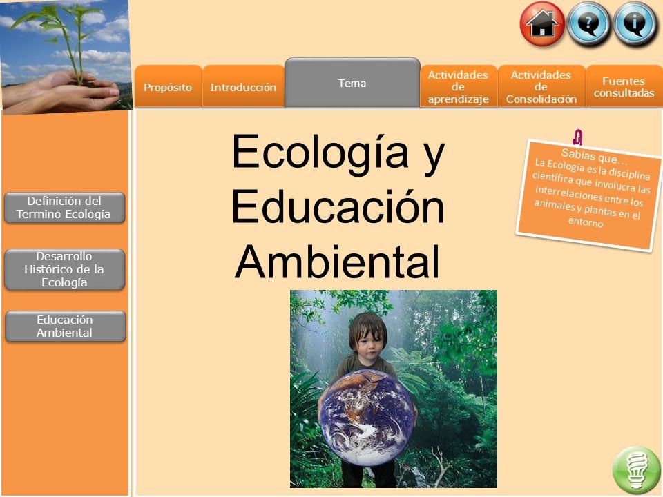Ecología y Educación Ambiental