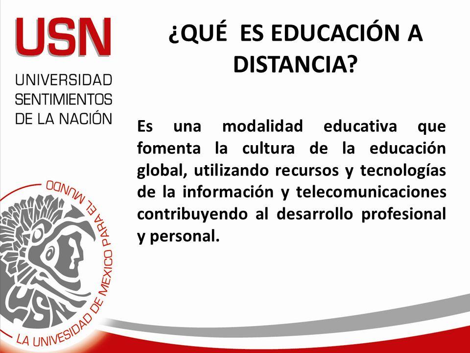 ¿QUÉ ES EDUCACIÓN A DISTANCIA