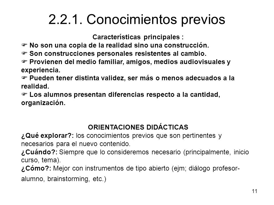 2.2.1. Conocimientos previos