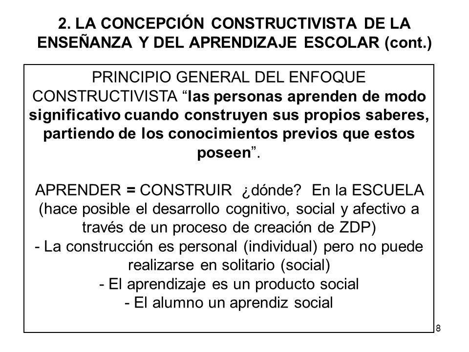 - El aprendizaje es un producto social - El alumno un aprendiz social