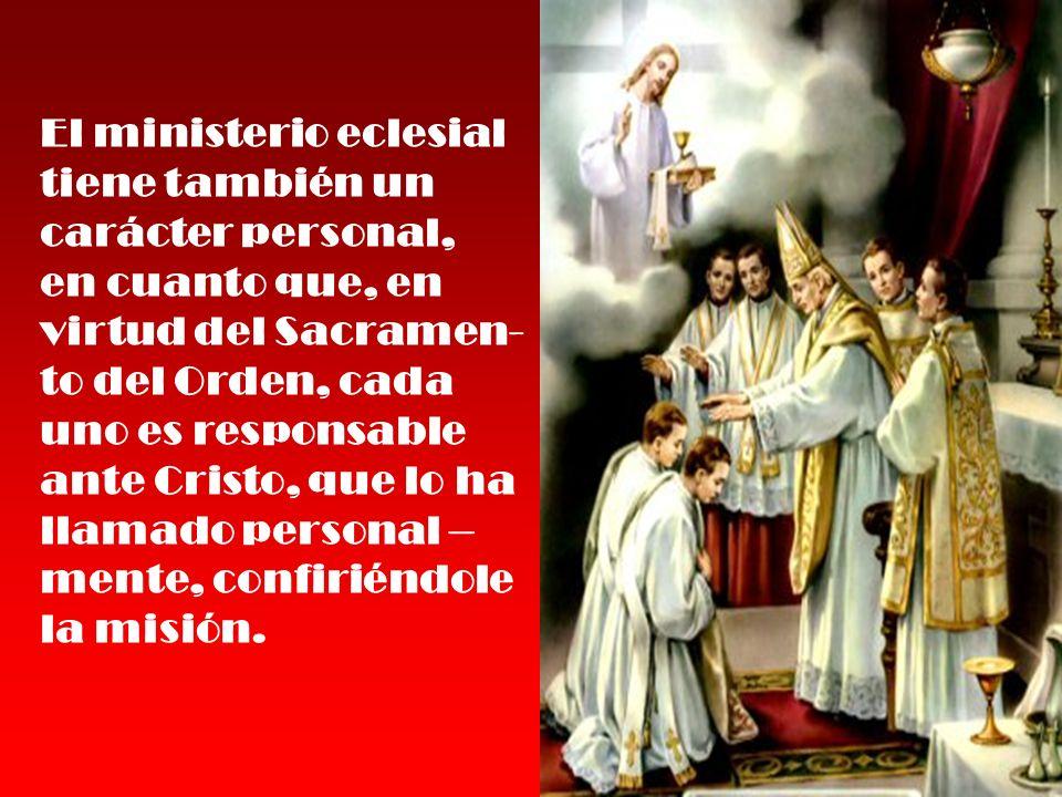 El ministerio eclesial