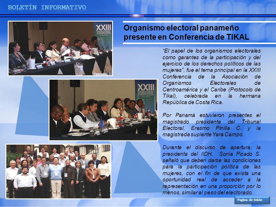 Organismo electoral panameño presente en Conferencia de TIKAL