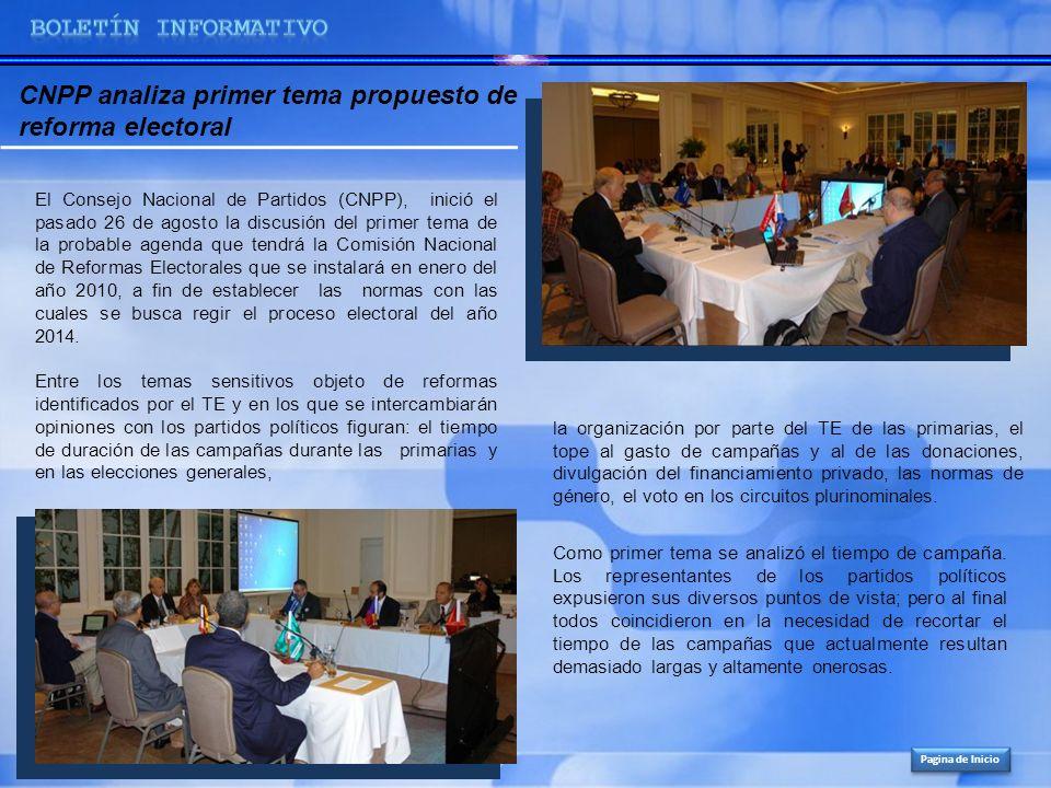 CNPP analiza primer tema propuesto de reforma electoral