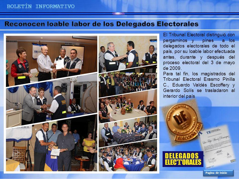 Reconocen loable labor de los Delegados Electorales