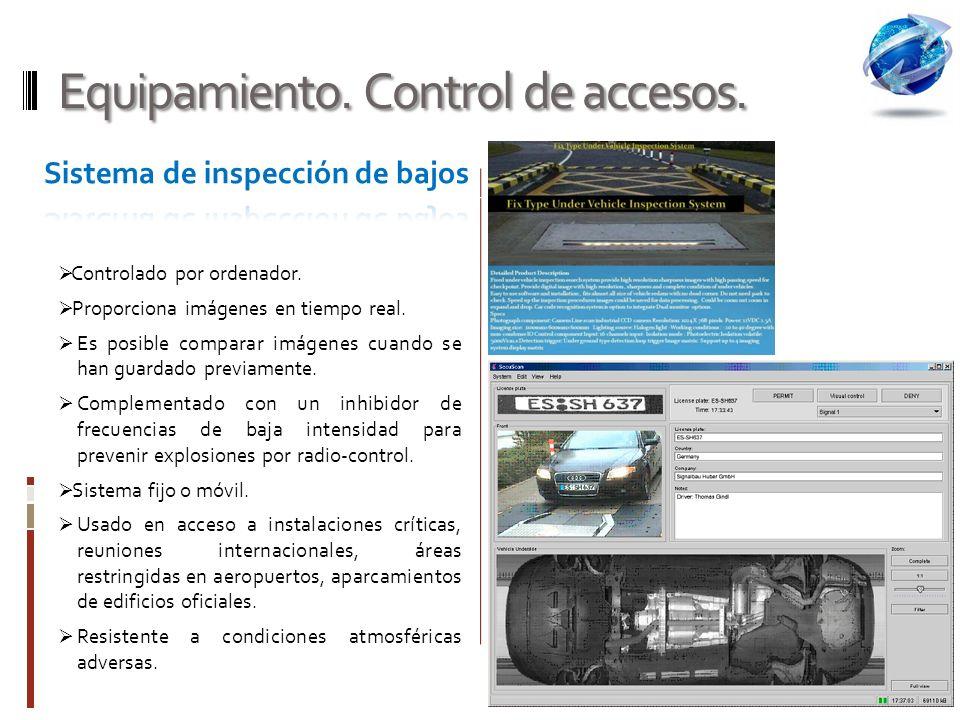 Equipamiento. Control de accesos.