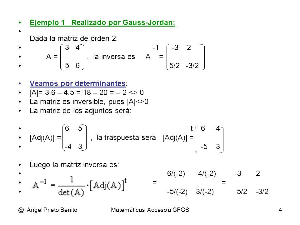 Matemáticas Acceso a CFGS