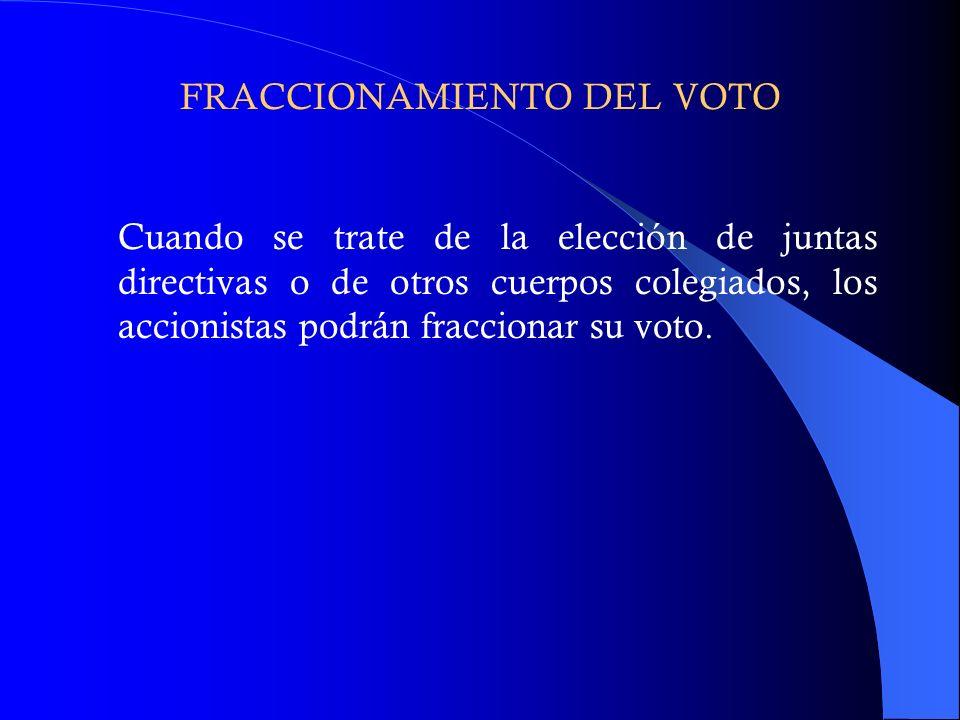 FRACCIONAMIENTO DEL VOTO