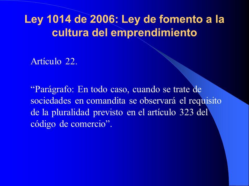 Ley 1014 de 2006: Ley de fomento a la cultura del emprendimiento