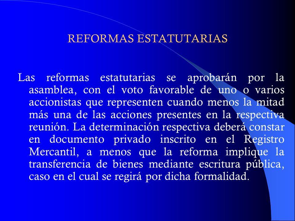 REFORMAS ESTATUTARIAS