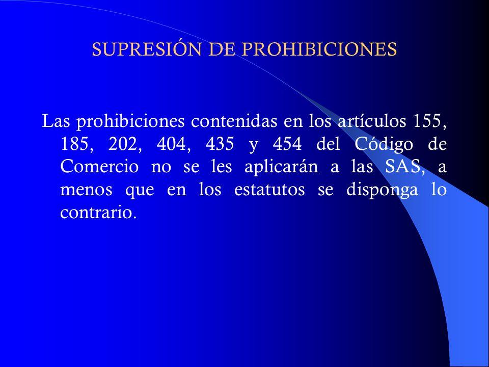 SUPRESIÓN DE PROHIBICIONES